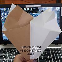 Упаковка конверт-конус для фри в наличии бурая, фото 1