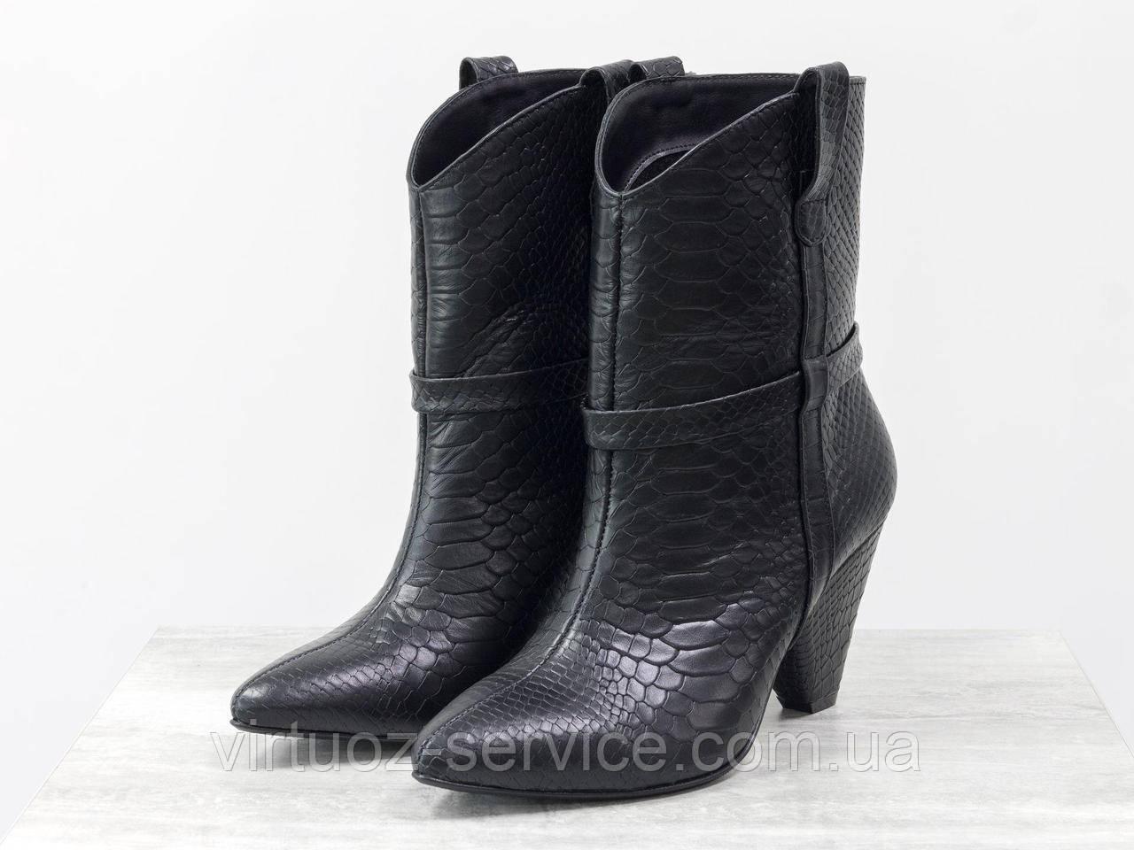 Ботинки женские Gino Figini Б-1902-05из натуральной кожи