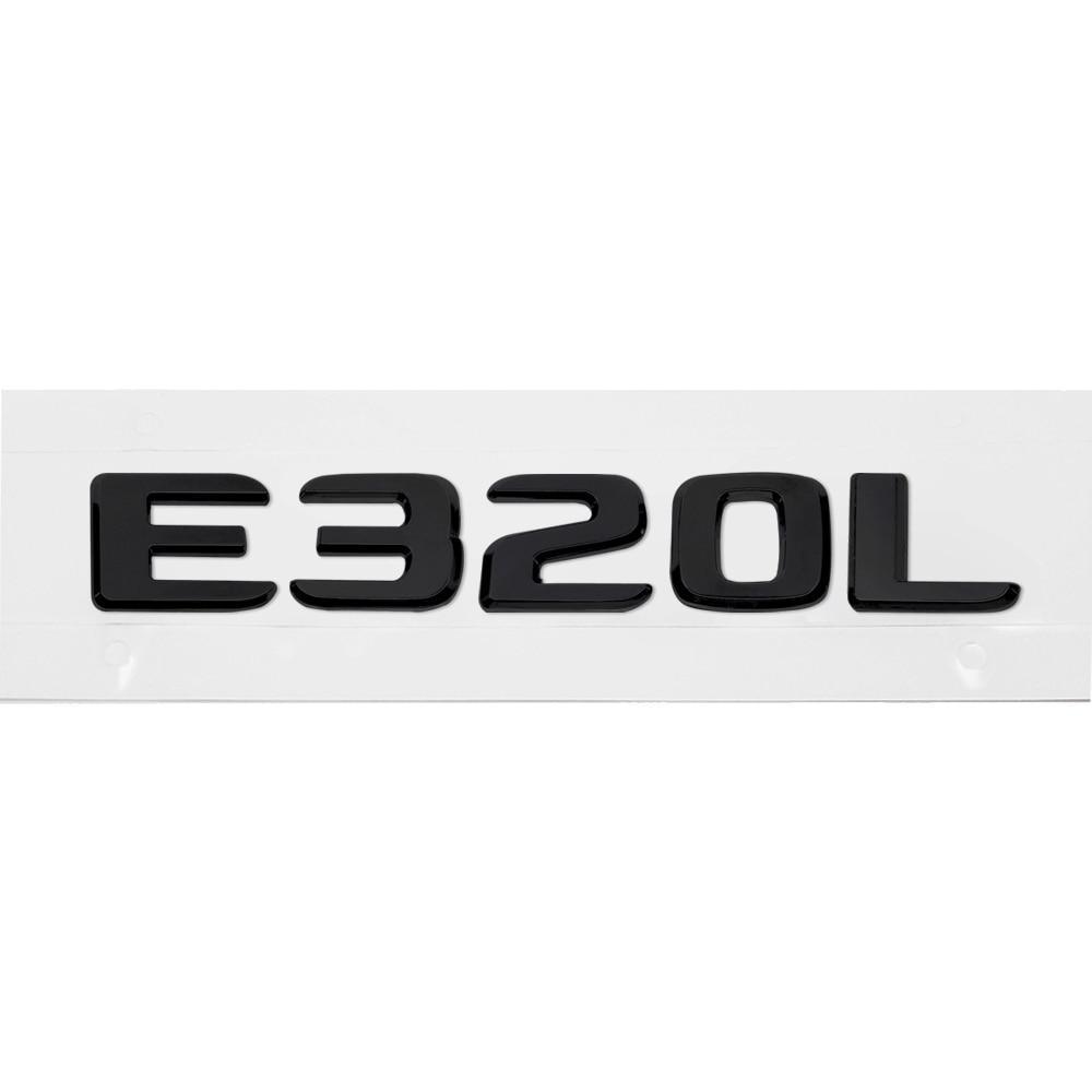 Матовая Эмблема Шильдик надпись E320L Мерседес Mercedes