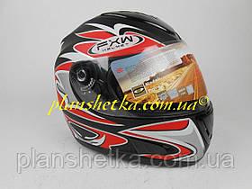 Шлем для мотоцикла Hel-Met 160 черный мат с красным, фото 3