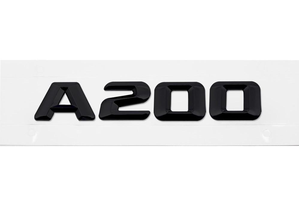 Матовая Эмблема Шильдик надпись A200 Мерседес Mercedes