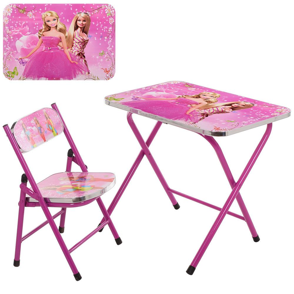 Столик детский складной со стульчиком A19-BB Гарантия качества Быстрая доставка