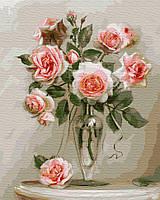 GX 4741 Нежные розы Картина по номерам 40х50см без коробки, в пакете