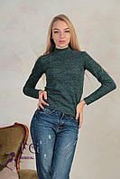 Женская теплая водолазка зеленая 007/03, фото 1