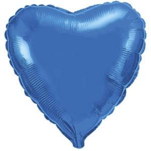 Фольгированный шар Ультра Сердце 9см х 23см Голубой