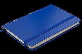 Блокнот діловий STRONG LOGO2U 95x140мм, 80арк., клітинка, темно-синій