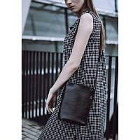 Женская кожаная сумка-кроссбоди черная Blank - Black Point
