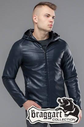 Куртка весенне-осенняя мужская 15353 темно-синяя, фото 2