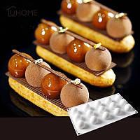 Силиконовая форма TRUFFLES для евродесертов шоколада Сфера 15 шт