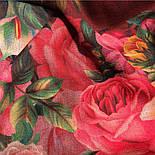 10183-6, павлопосадский платок шерстяной (разреженная шерсть) с швом зиг-заг, фото 3