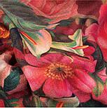 10183-6, павлопосадский платок шерстяной (разреженная шерсть) с швом зиг-заг, фото 6