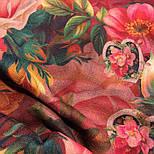10183-6, павлопосадский платок шерстяной (разреженная шерсть) с швом зиг-заг, фото 7