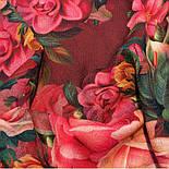 10183-6, павлопосадский платок шерстяной (разреженная шерсть) с швом зиг-заг, фото 4