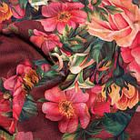 10183-6, павлопосадский платок шерстяной (разреженная шерсть) с швом зиг-заг, фото 5