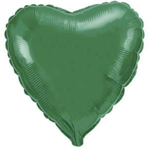 Фольгированный шар Ультра Сердце 9см х 23см Зеленый
