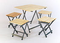 """Туристический комплект складной стол и 4 стула """"Турист книжка"""""""