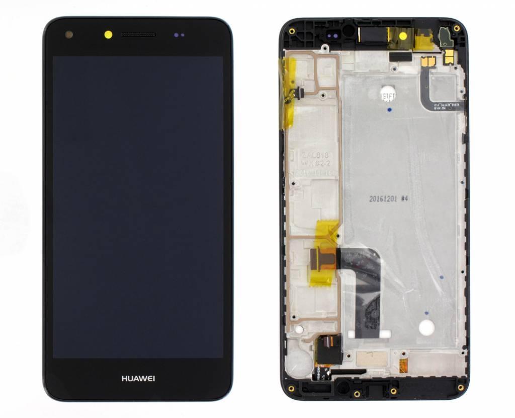 Дисплей для Huawei Y6 II Compact (LYO-L21) с тачскрином и рамкой черный Оригинал