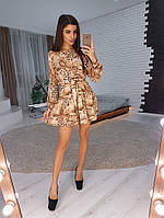 Романтическое платье с животным принтом