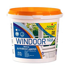 Эмаль для окон и дверей NanoFarb Windoor Aqua 0.9л