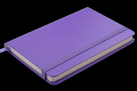 Блокнот діловий STRONG LOGO2U 95x140мм, 80арк., клітинка, фіолетовий