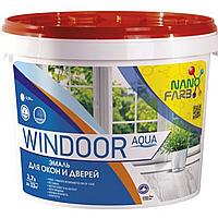 Эмаль для окон и дверей NanoFarb Windoor Aqua 2.7л