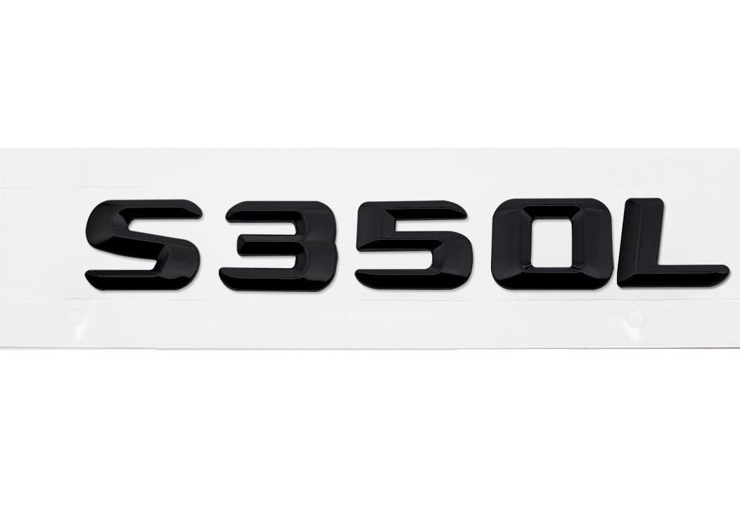 Матовая Эмблема Шильдик надпись S350L Мерседес Mercedes