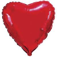 Фольгированный шар Ультра Сердце 9см х 23см Красный