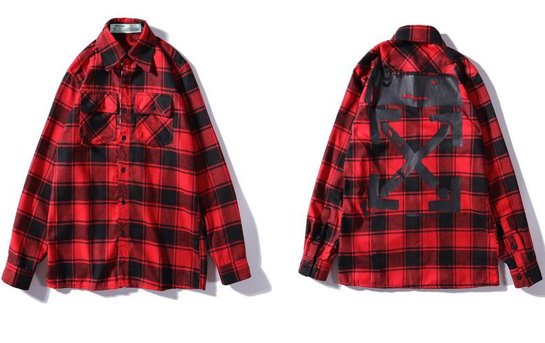 Сорочка Off-White Red/Black