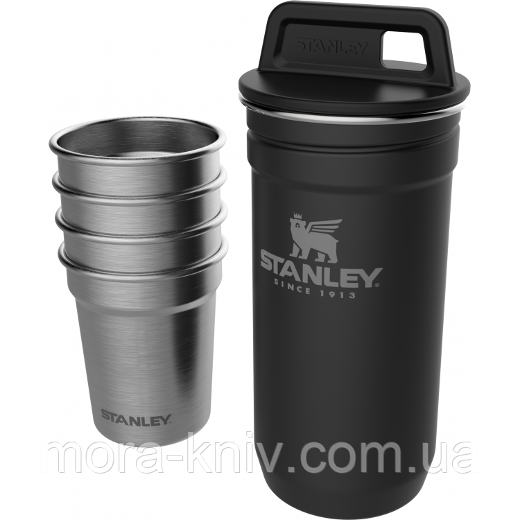 Набор Stanley Adventure Combo Matte Black фляга (0,59л) + 4 рюмки (10-01705-036)