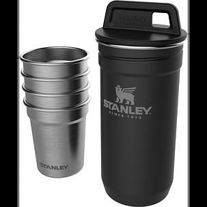 Набор Stanley Adventure Combo Matte Black фляга (0,59л) + 4 рюмки (10-01705-036), фото 2