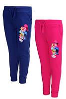 Спортивные штаны на флисе для девочек оптом, Disney, 92-116 см,  № 991-234, фото 1