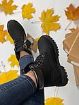 Зимние женские ботинки Timberland 6 inch black без меха. Фото в живую (Реплика ААА+), фото 6