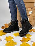 Зимние женские ботинки Timberland 6 inch black без меха. Фото в живую (Реплика ААА+), фото 7