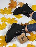 Зимние женские ботинки Timberland 6 inch black без меха. Фото в живую (Реплика ААА+), фото 8