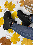 Зимние женские ботинки Timberland 6 inch black без меха. Фото в живую (Реплика ААА+), фото 10