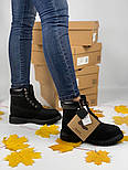 Зимние женские ботинки Timberland 6 inch black без меха. Фото в живую (Реплика ААА+), фото 9