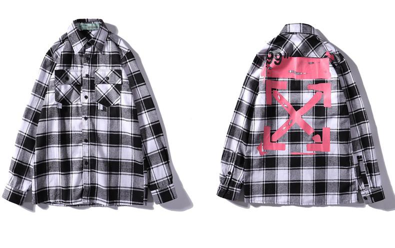 Рубашка Off-White Gray/Pink