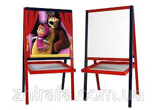 Мольберт Маша и Медведь деревянный (ольха) Финекс