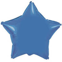 Фольгированный шар Ультра Звезда 9см х 23см Голубой