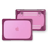 Чехол пластиковый для MacBook Air 13.3 Pro 13 2017 18 Dark Pink, КОД: 396218