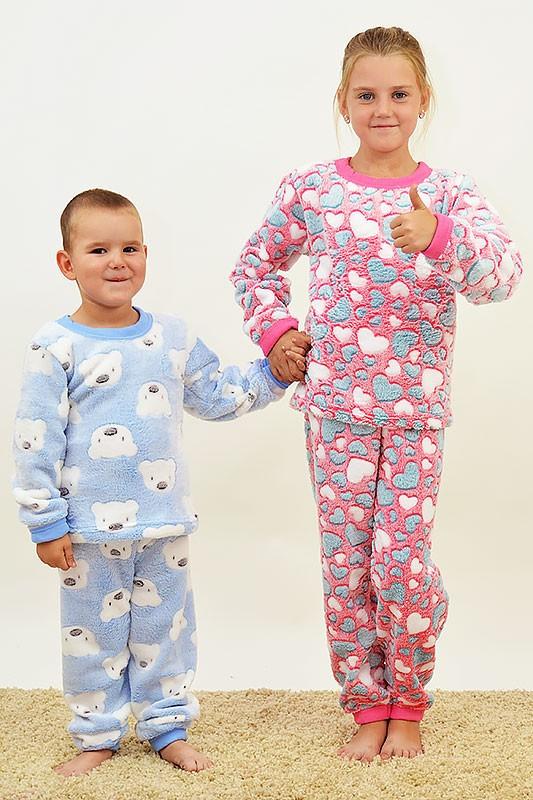 Пижамы махровые для девочек  разные цвета и рисунки