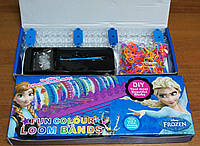 Набор резиночек для плетения браслетов своими руками Rainbow loom bands 600 шт. + станок
