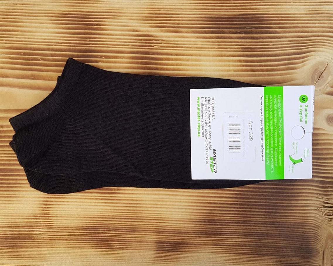 Носок черный укороченный мужской, размер 27 / 41-43р.