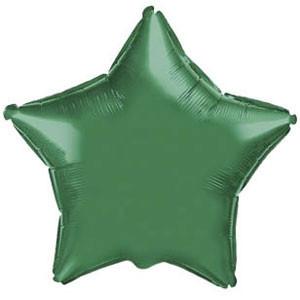 Фольгированный шар Ультра Звезда 9см х 23см Зеленый
