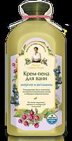 """Крем-пена для ванн """" Энергия и витамины """"  на пяти мыльных травах Рецепты бабушки Агафьи,500 мл."""