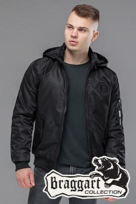 Мужская черная демисезонная куртка KIRO TOKAO  (р. 48-54) арт. 30525 черный