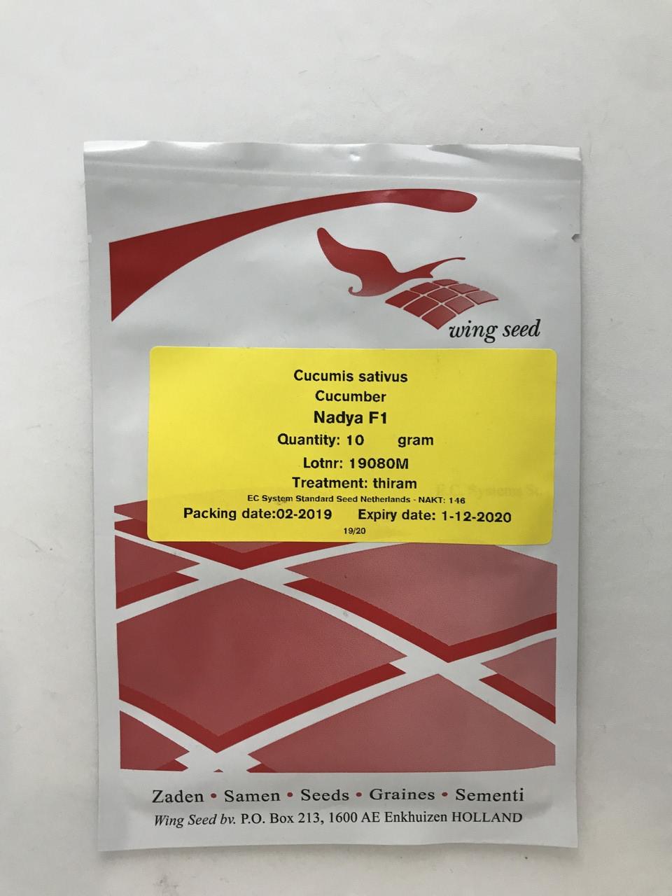 Семена Огурец Надя F1 10 гр пчелоопыляемый (Wing Seed) (1041218279)