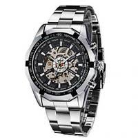 Мужские механические часы Winner Timi Skeleton Silver WS-101, КОД: 313193