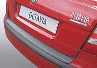 Накладка на задний бампер Skoda Octavia A5 2004-2008, ABS-пластик RBP244