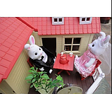✅Тварини флоксовые Happy Family 012-10 Заміський будиночок аналог Сильваниан Фемилис (Sylvanian Families), фото 7